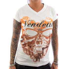 Vendetta Inc. Shirt Flower Skull 1