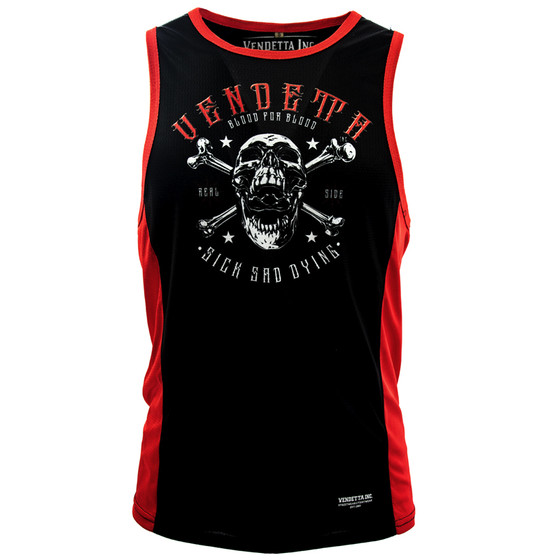 Vendetta Inc. Tanktop Sick Sad Dying schwarz 1