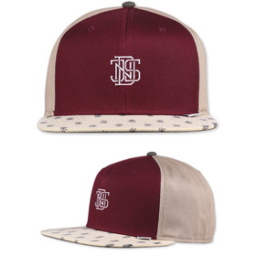 Djinns Snapback Cap 6 Panel L-Block wine 1