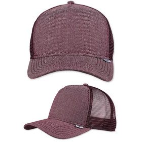Djinns Trucker Cap 2Tone Oxford wine 1