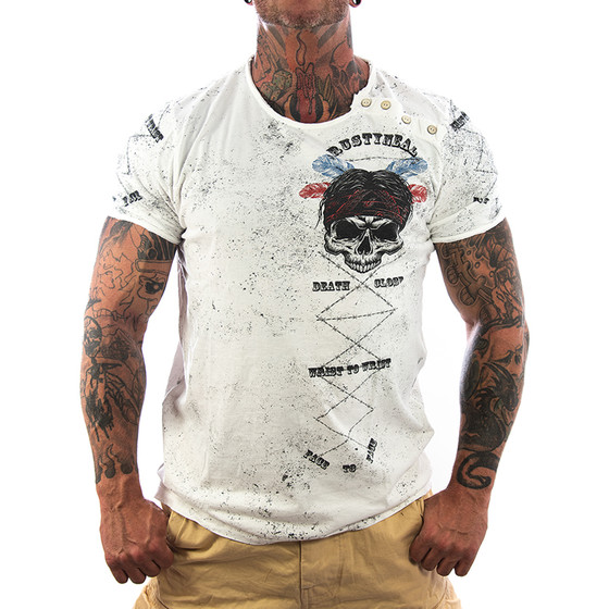Rusty Neal T-Shirt Death 15262 weiß 1