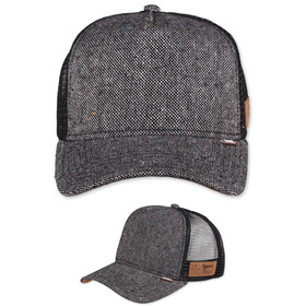 Djinns Trucker Cap Spotted Tweed schwarz 1