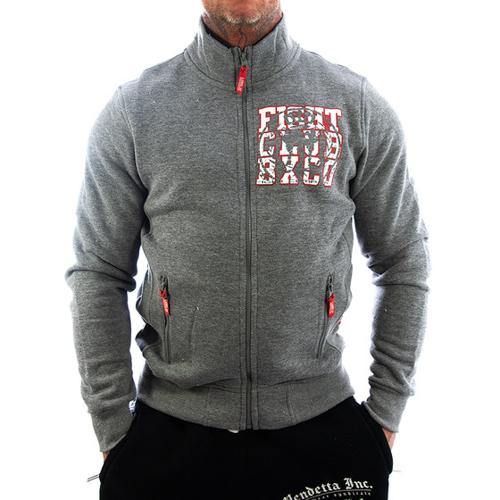 Label 23 Trainingsjacke Fight Club grau 1