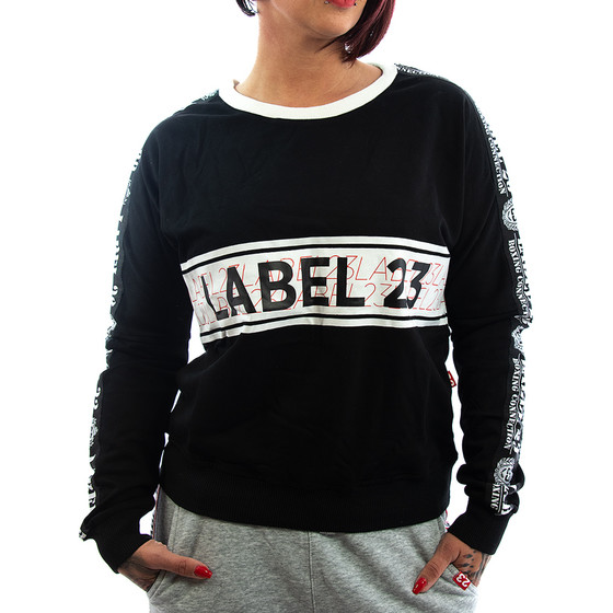 Label 23 Sweatshirt Be unique schwarz 1